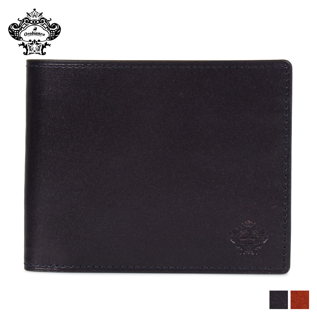 Orobianco BI-FOLD WALLET オロビアンコ 財布 二つ折り メンズ 本革 ブラック ブラウン 黒 ORS-012508 [10/12 新入荷]