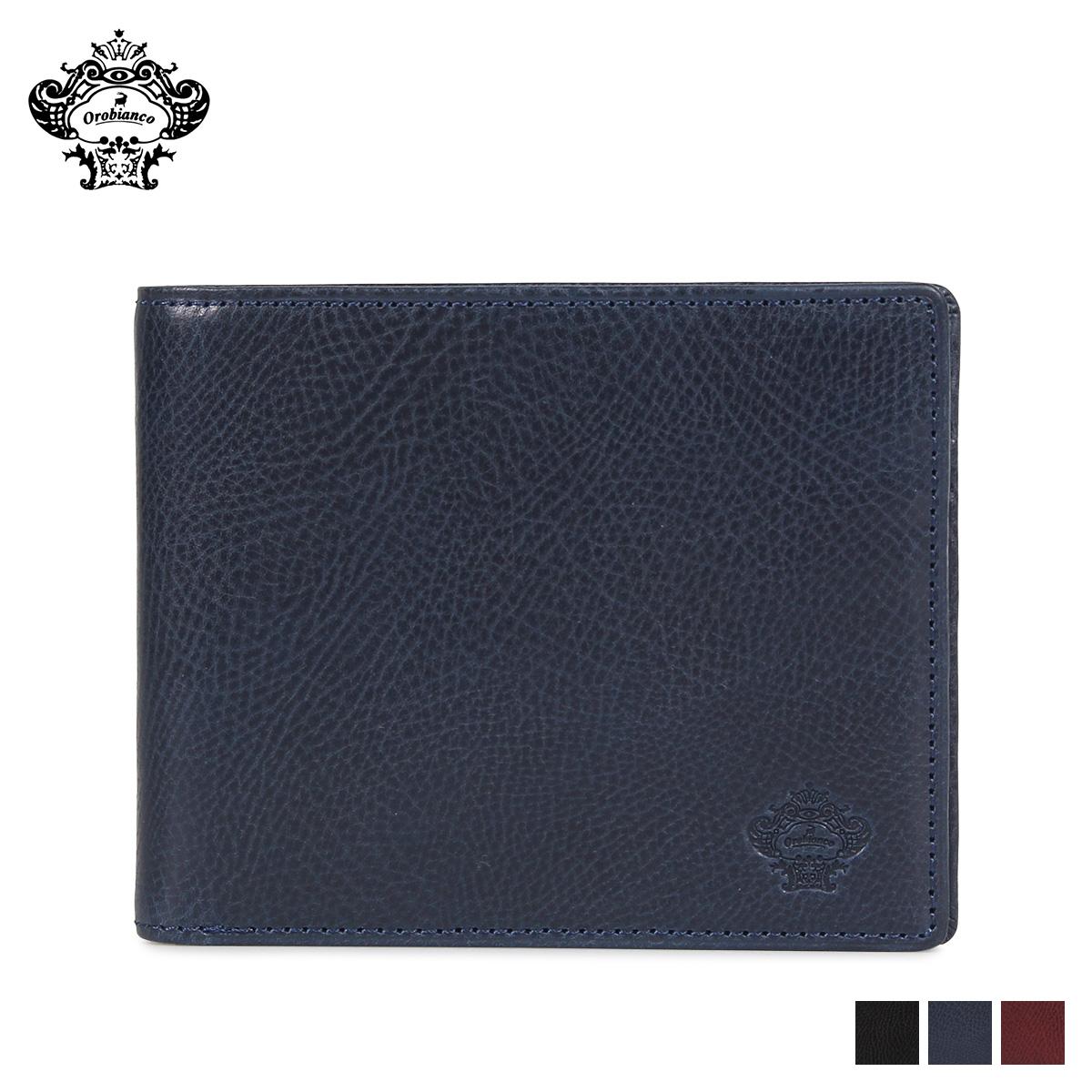 Orobianco BI-FOLD WALLET オロビアンコ 財布 二つ折り メンズ 本革 ブラック ネイビー ワイン 黒 ORS-031408