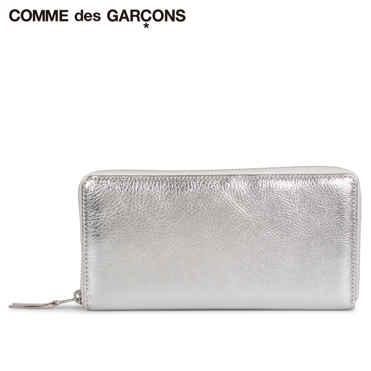 COMME des GARCONS GOLD AND SILVER WALLET コムデギャルソン 財布 長財布 メンズ レディース ラウンドファスナー 本革 シルバー SA0110G