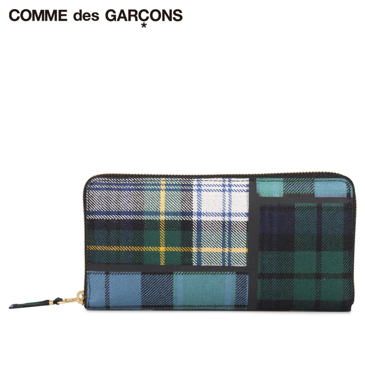 COMME des GARCONS TARTAN PATCHWORK WALLET コムデギャルソン 財布 長財布 メンズ レディース ラウンドファスナー 本革 タータンチェック グリーン SA0110TP [10/10 新入荷]