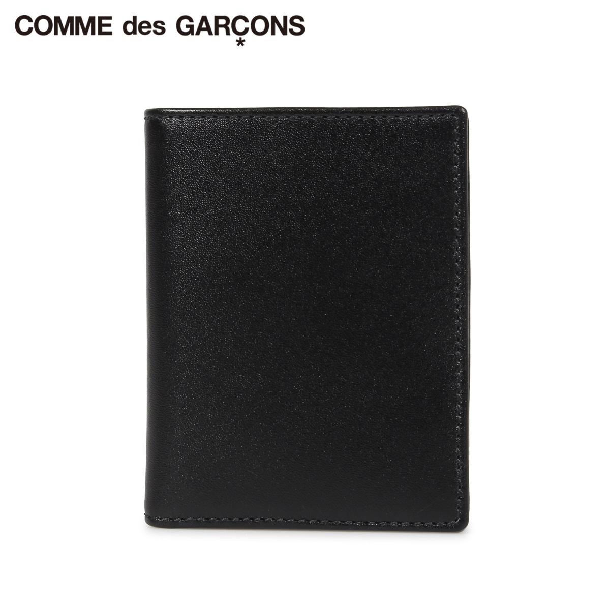 COMME des GARCONS CLASSIC WALLET コムデギャルソン 財布 二つ折り メンズ レディース 本革 ブラック 黒 SA0641