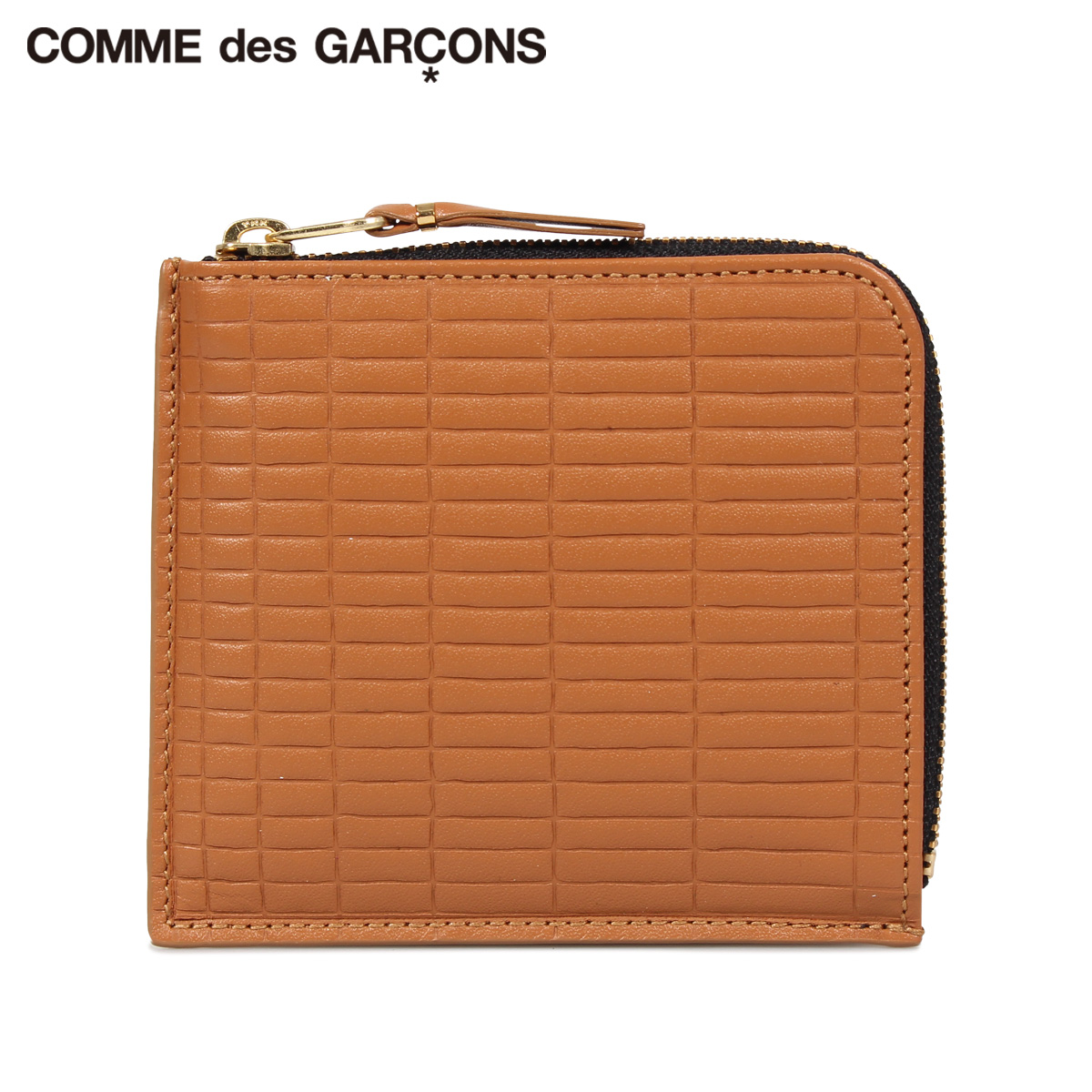 COMME des GARCONS BRICK WALLET コムデギャルソン 財布 ミニ財布 メンズ レディース L字ファスナー 本革 ベージュ SA3100BK