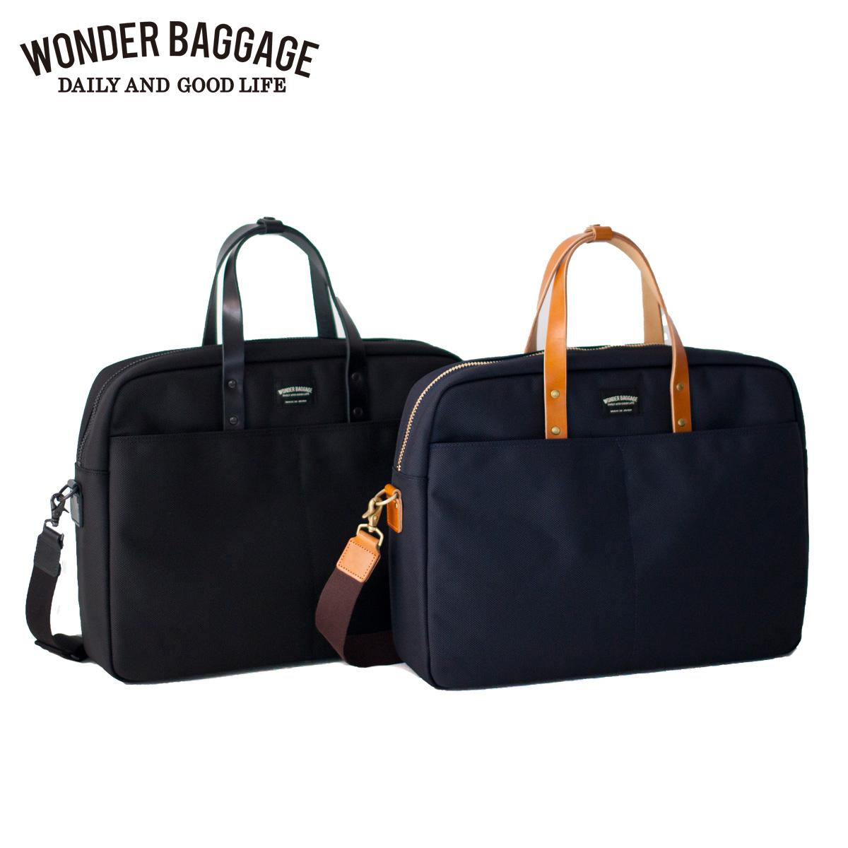 WONDER BAGGAGE ワンダーバゲージ バッグ ビジネスバッグ ブリーフケース ショルダー グッドマンズ メンズ GOODMANS BUSINESS BRIEF CASE ブラック ネイビー 黒 WB-G-007