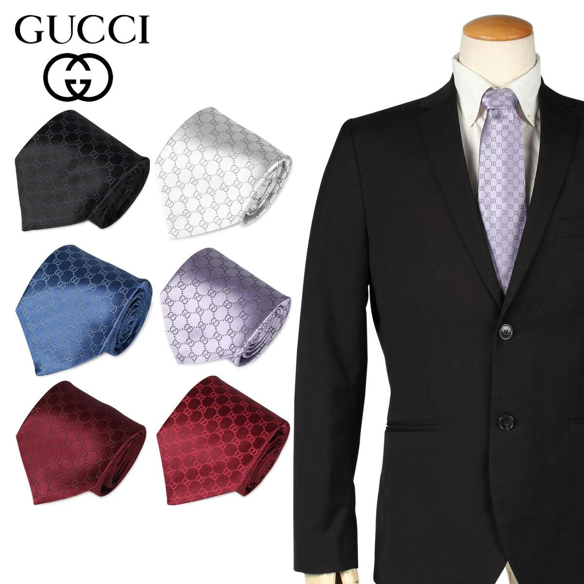 GUCCI グッチ ネクタイ メンズ シルク ビジネス 結婚式 456520