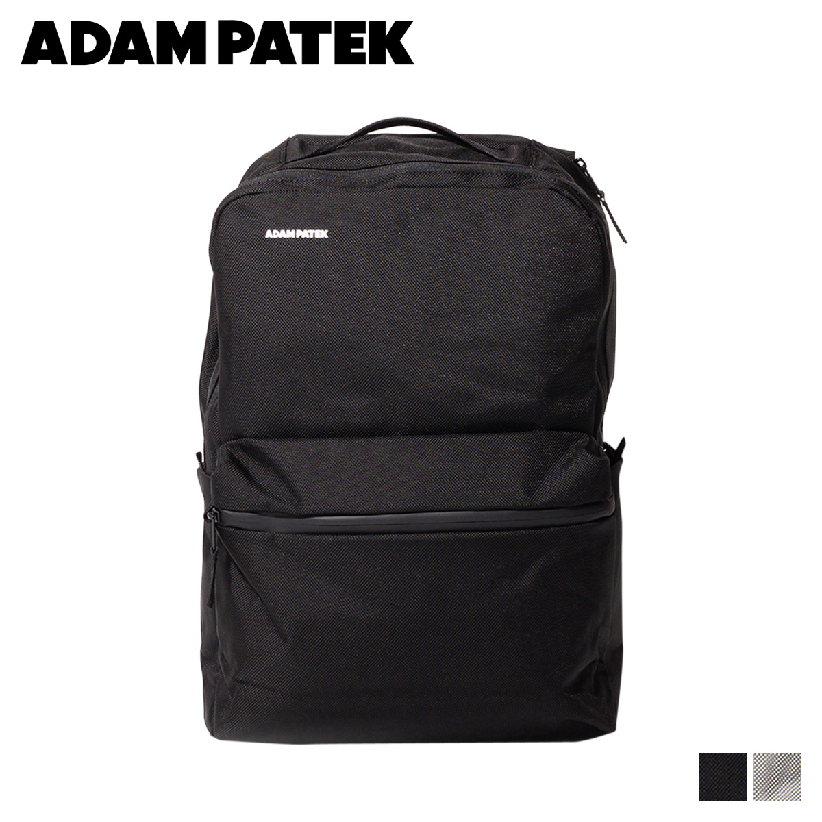 ADAM PATEK BOISE SQUARE PACK アダムパテック バッグ リュック バックパック メンズ レディース ブラック グレー 黒 AMPK-B042