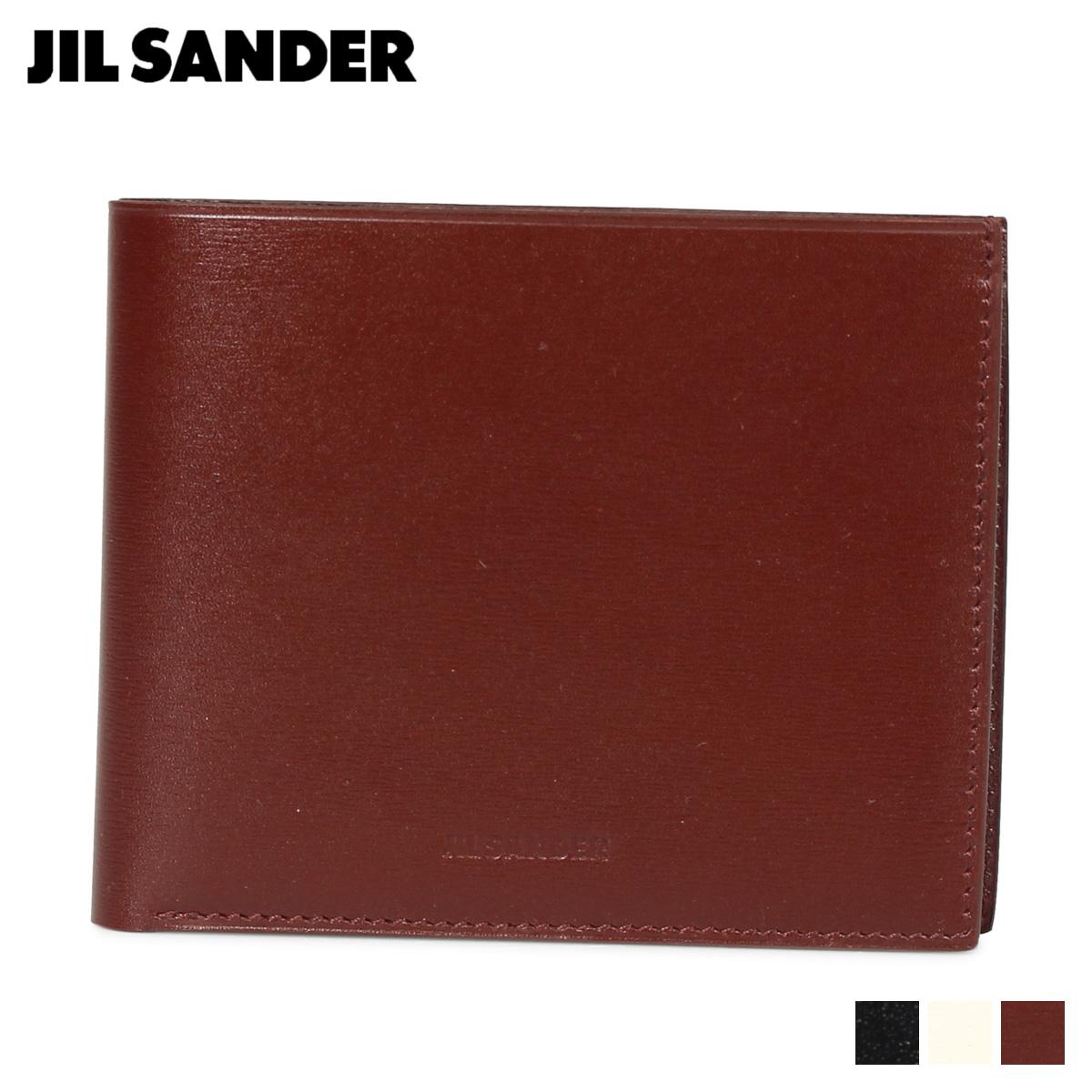 JIL SANDER ZIP POCKET WALLET ジルサンダー 財布 二つ折り財布 メンズ ブラック ホワイト ブラウン 黒 白 MPS00015N [11/15 新入荷]