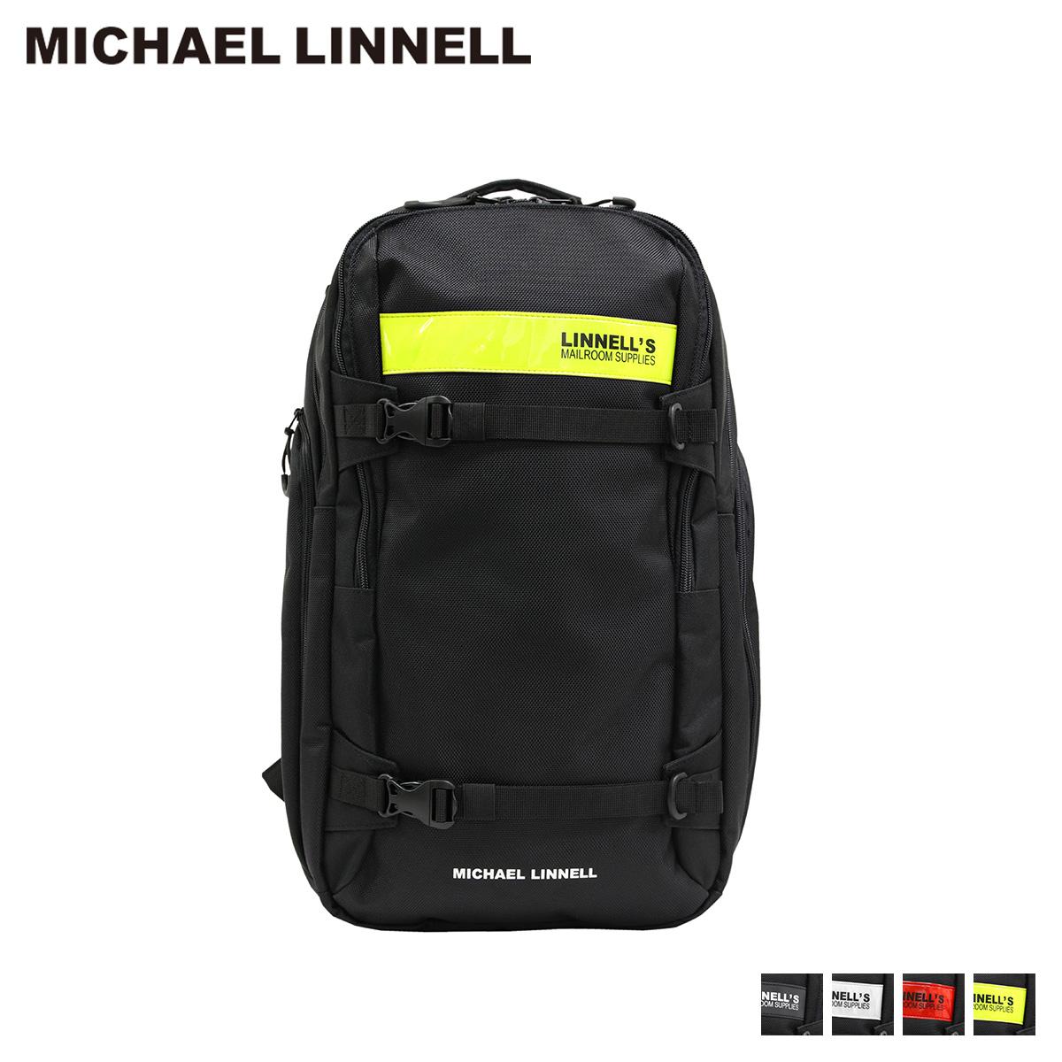 MICHAEL LINNELL 2FLAP BACKPACK マイケルリンネル リュック バッグ 29L メンズ レディース バックパック ブラック 黒 ML-030 [10/18 新入荷]
