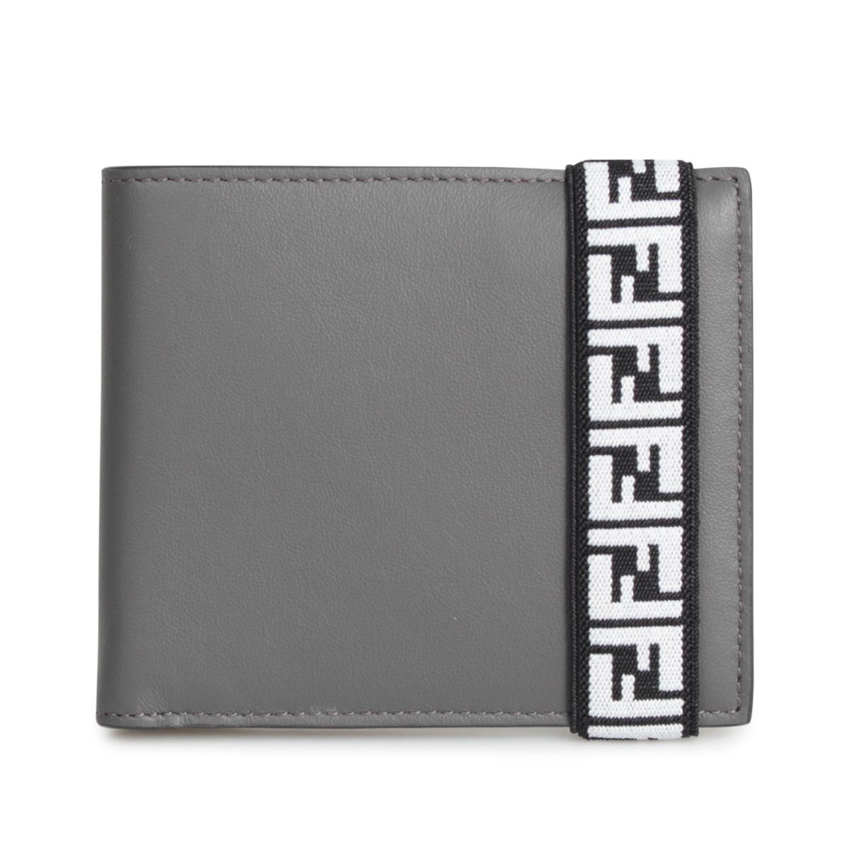 FENDI BI-FOLD WALLET フェンディ 財布 二つ折り メンズ グレー SFD0132 [12/5 新入荷]