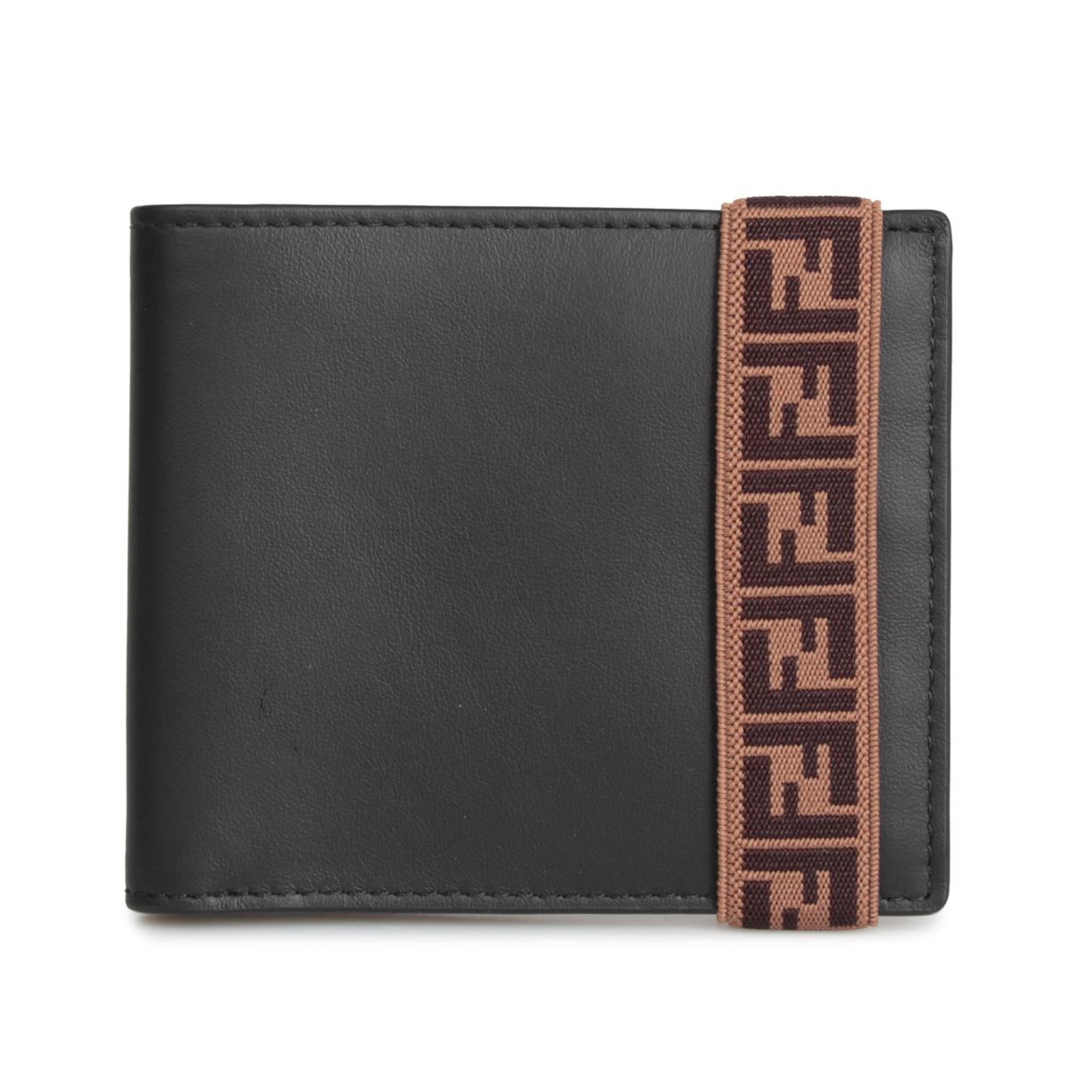 FENDI BI-FOLD WALLET フェンディ 財布 二つ折り メンズ ブラック 黒 7M0266 A8VC