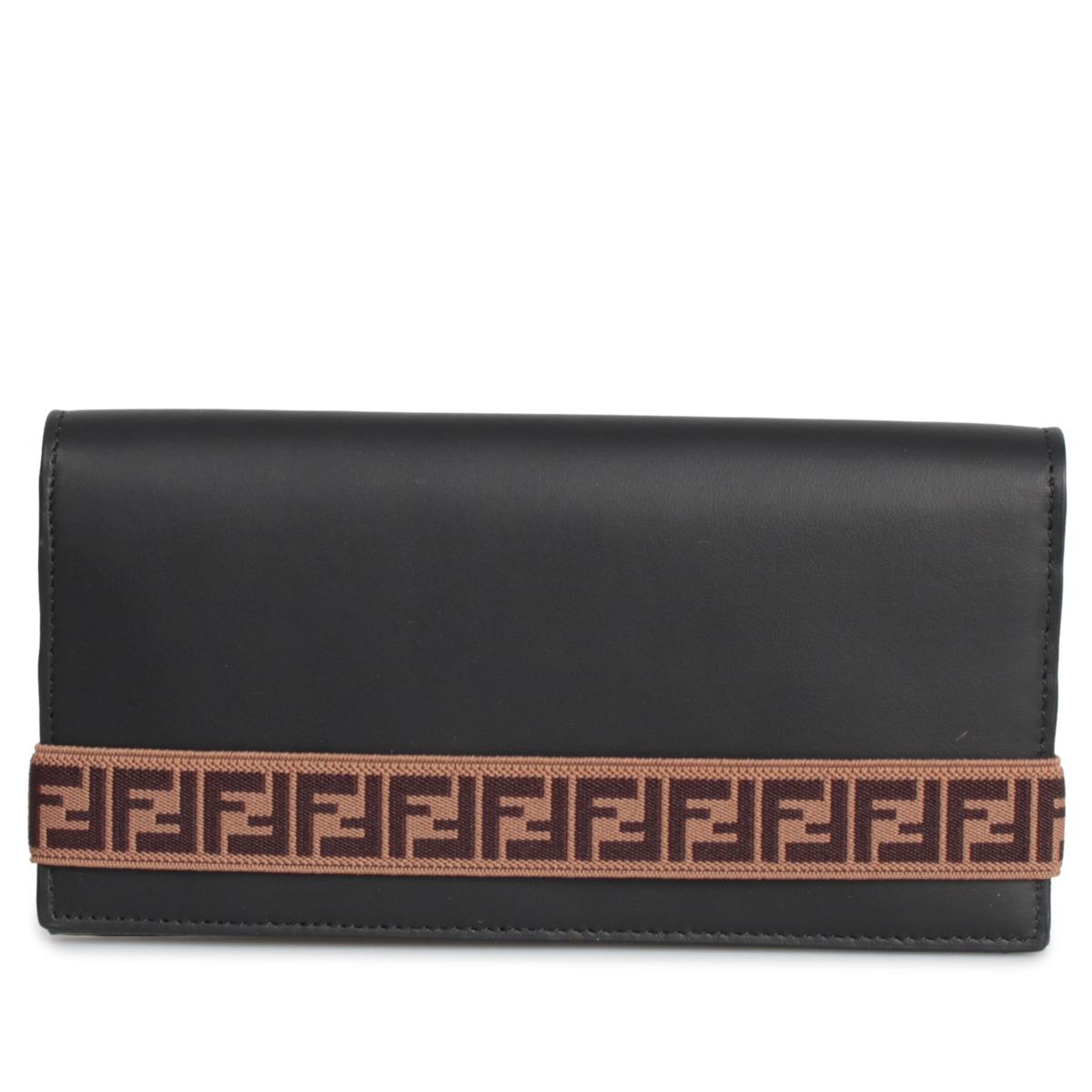 FENDI LONG WALLET フェンディ 財布 長財布 メンズ ブラック 黒 7M0268 A8VC