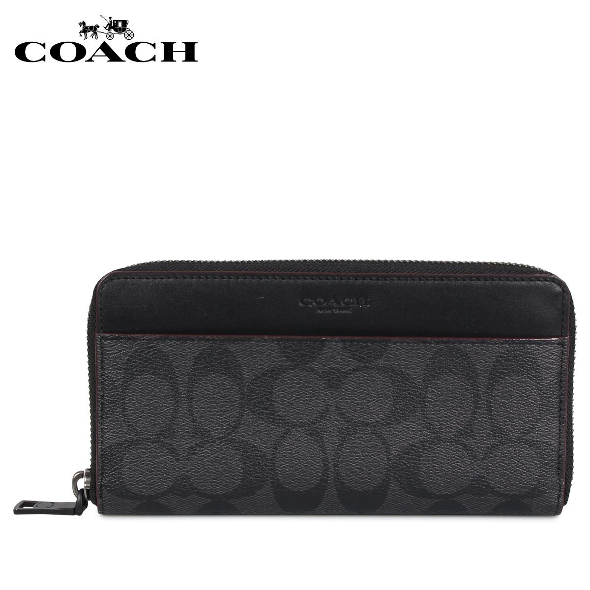 COACH F25517 コーチ 財布 長財布 メンズ ブラック 黒 [11/27 新入荷]