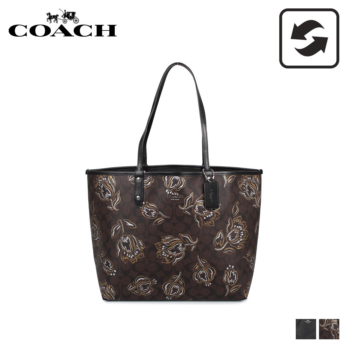 COACH F78282 コーチ バッグ トートバッグ レディース リバーシブル ブラック/ブラウン 黒