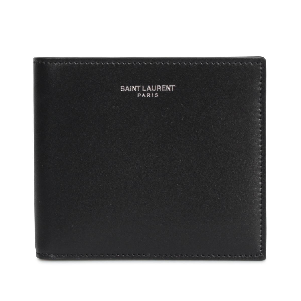 SAINT LAURENT PARIS EAST WEST WALLET サンローラン パリ 財布 二つ折り メンズ ブラック 黒 3963070U90N