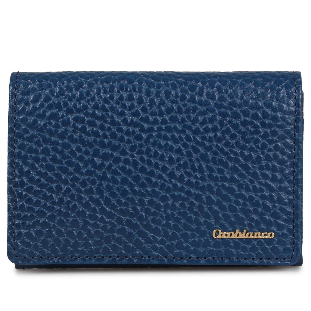 Orobianco BUSINESS CARD HOLDER オロビアンコ カードケース 名刺入れ 定期入れ メンズ ブラック ネイビー ブルー 黒 ORS-021008