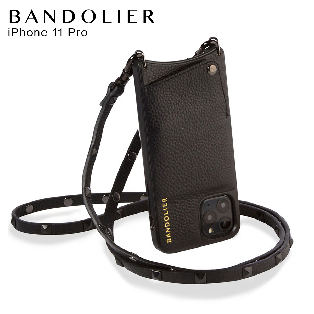 BANDOLIER SARAH BLACK バンドリヤー サラ ブラック iPhone11 Pro ケース スマホ 携帯 ショルダー アイフォン メンズ レディース ブラック 黒 2300