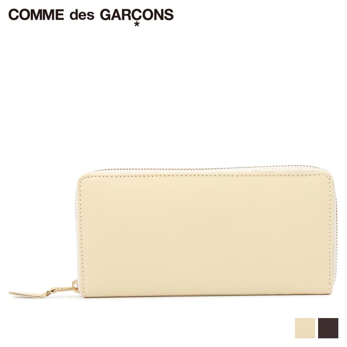 COMME des GARCONS WALLET コムデギャルソン 財布 長財布 メンズ レディース ラウンドファスナー ホワイト ブラウン 白 SA0110