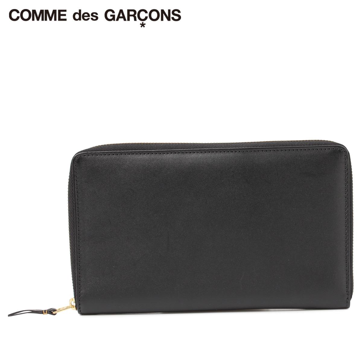 COMME des GARCONS CLASSIC ARECALF コムデギャルソン 財布 パスポートケース メンズ レディース ラウンドファスナー ブラック 黒 SA1000