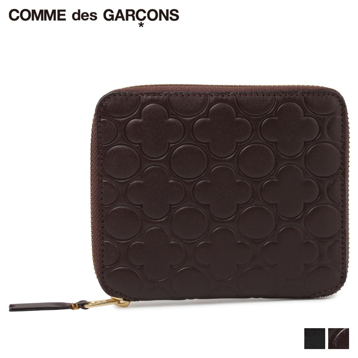 COMME des GARCONS NATURAL コムデギャルソン 財布 二つ折り メンズ レディース ラウンドファスナー ブラック ブラウン 黒 SA210EB [予約商品 11/28頃入荷予定]