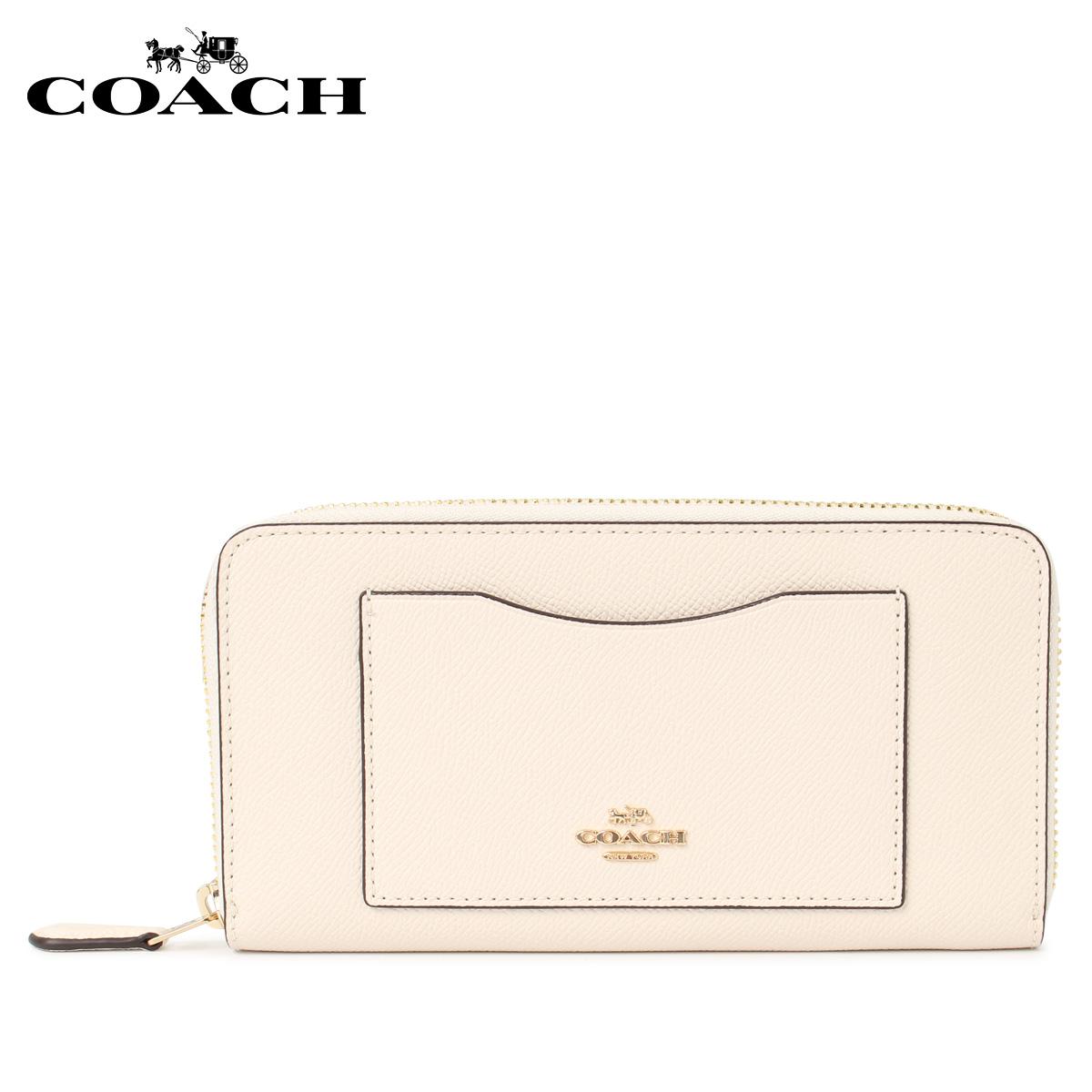 COACH F54007-IMCHK コーチ 財布 長財布 レディース ラウンドファスナー オフ ホワイト