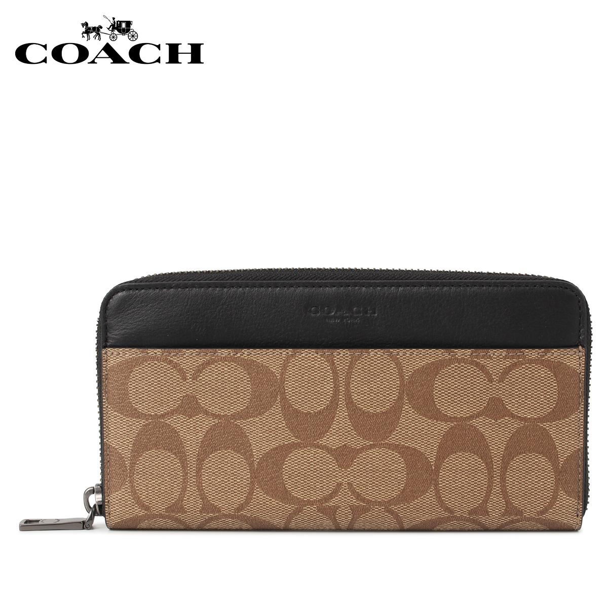 COACH F58112-QBTN2 コーチ 財布 長財布 レディース ラウンドファスナー ブラウン [11/25 新入荷]