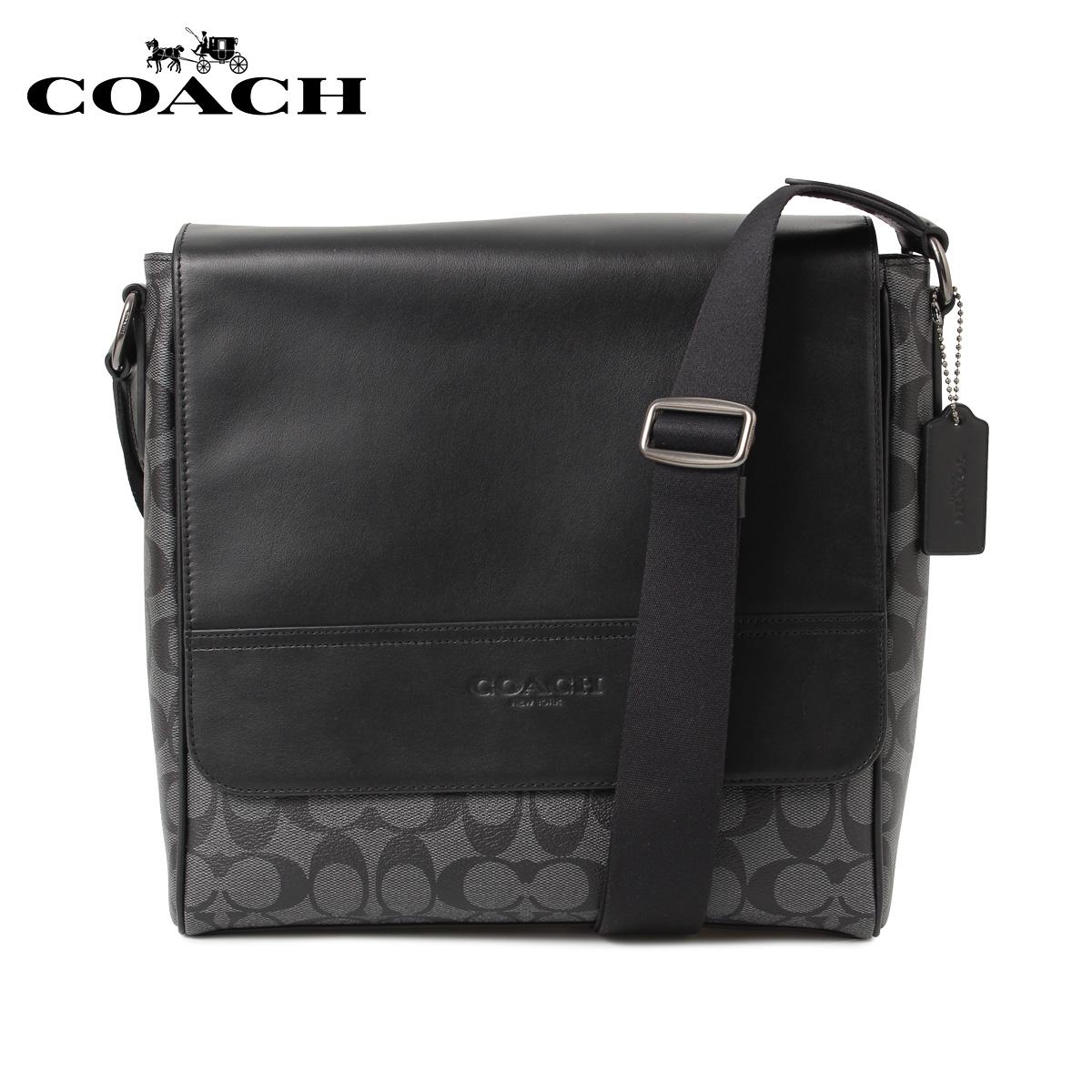 COACH F73339 コーチ バッグ ショルダーバッグ メンズ シグネチャー ブラック 黒