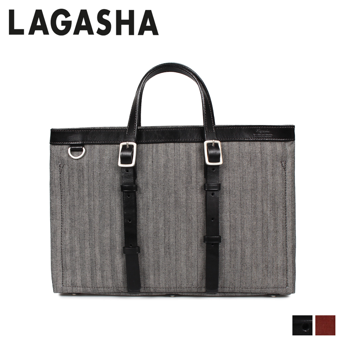 LAGASHA R&D ラガシャ アール&ディー バッグ トートバッグ メンズ ブラック ダーク ブラウン 黒 7493