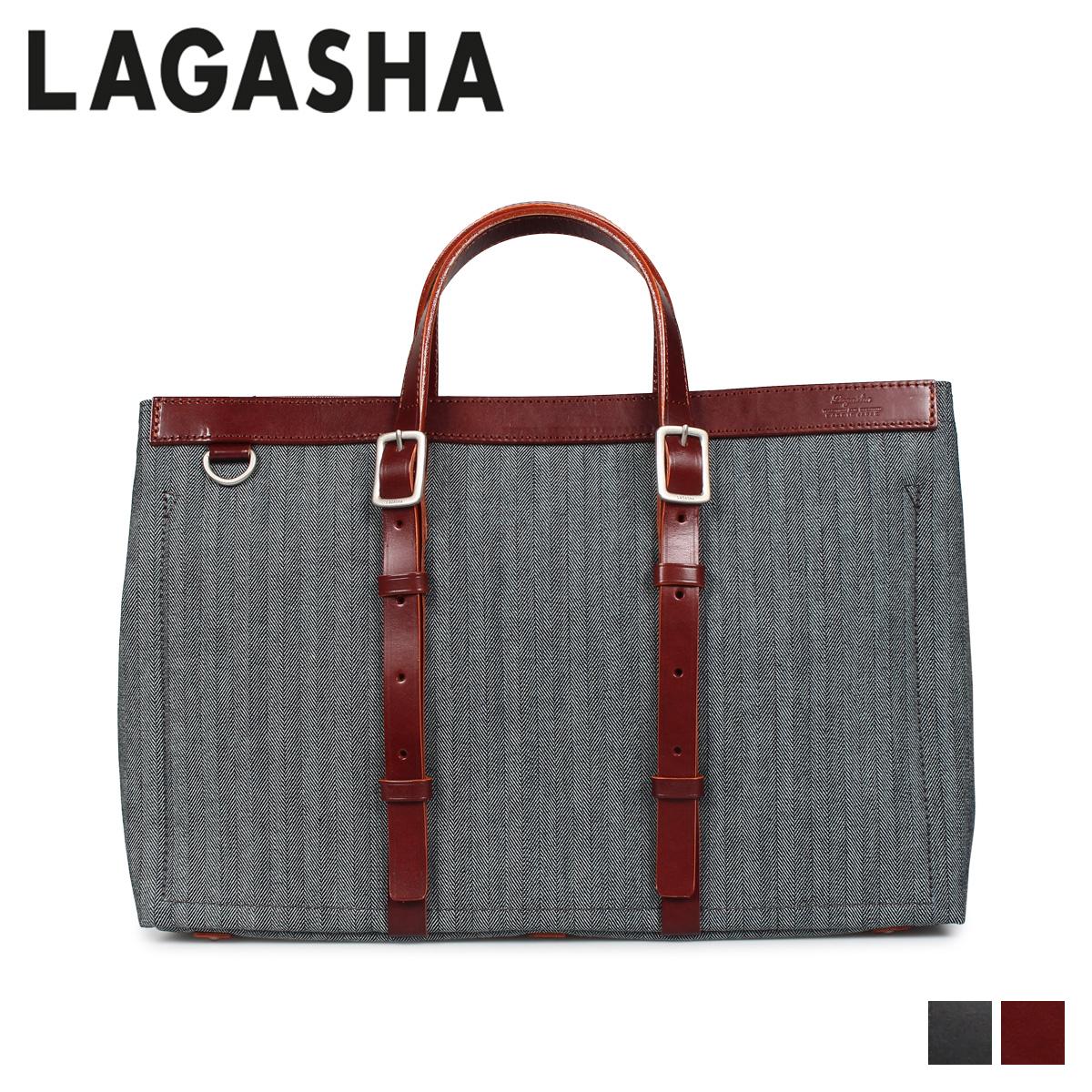 LAGASHA R&D ラガシャ アール&ディー バッグ トートバッグ メンズ ブラック ダーク ブラウン 黒 7494