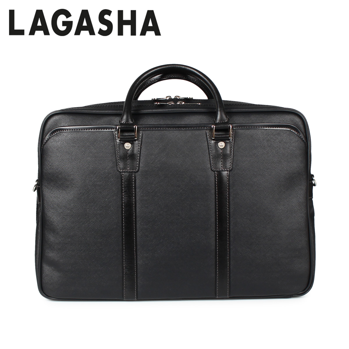 LAGASHA QUADRO ラガシャ クアドロ バッグ ビジネスバッグ ブリーフケース メンズ ブラック 黒 7718