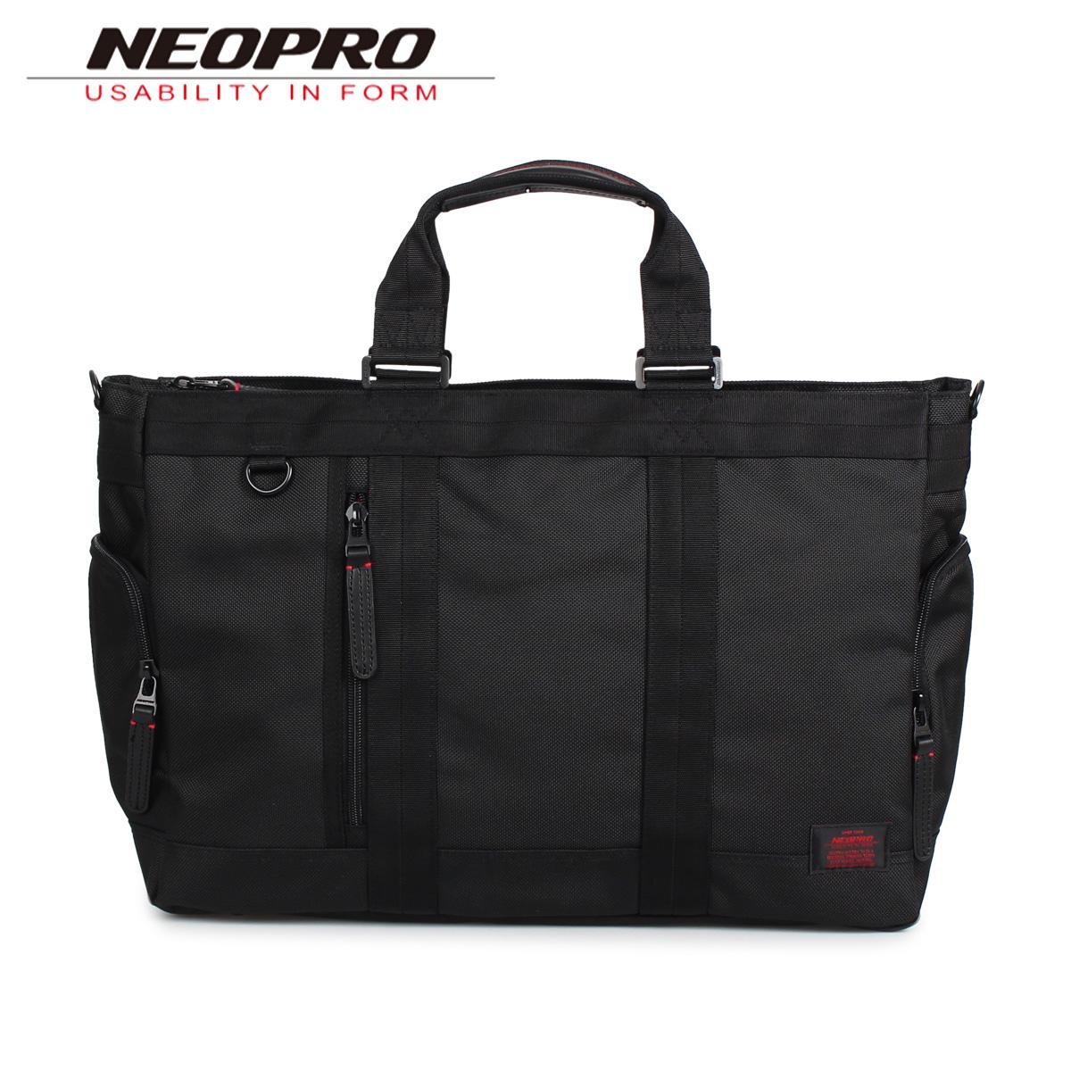 NEOPRO RED ネオプロ トートバッグ ボストンバッグ メンズ ブラック 黒 2-034