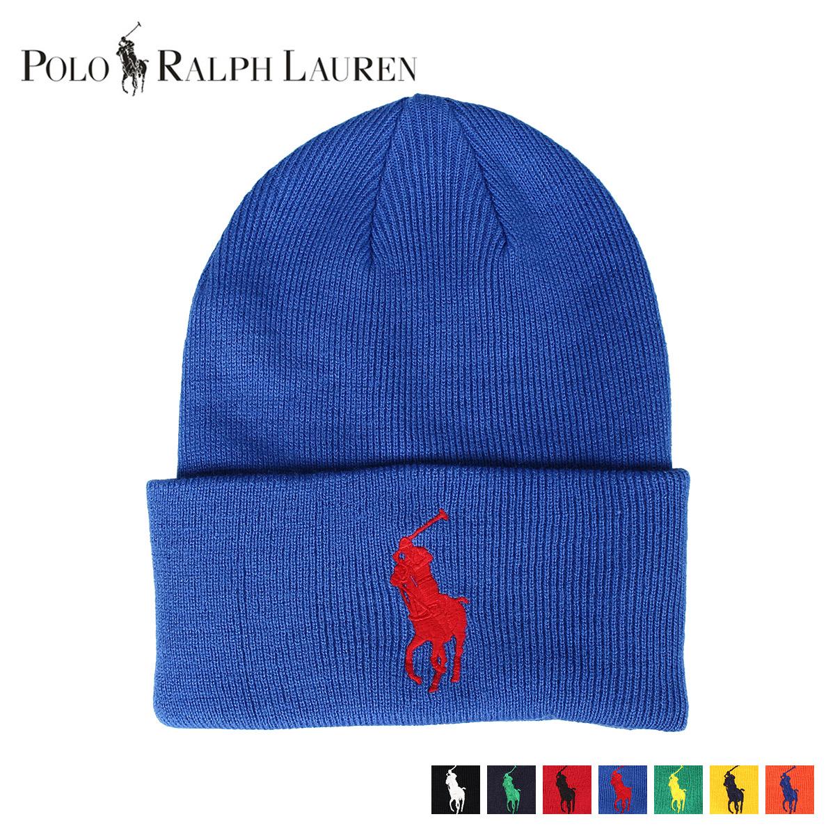 RALPH LAUREN KNIT CAP ラルフローレン ニット帽 ニットキャップ ビーニー メンズ ブラック ネイビー レッド ブルー グリーン イエロー オレンジ 黒 PC0436 [11/20 新入荷]