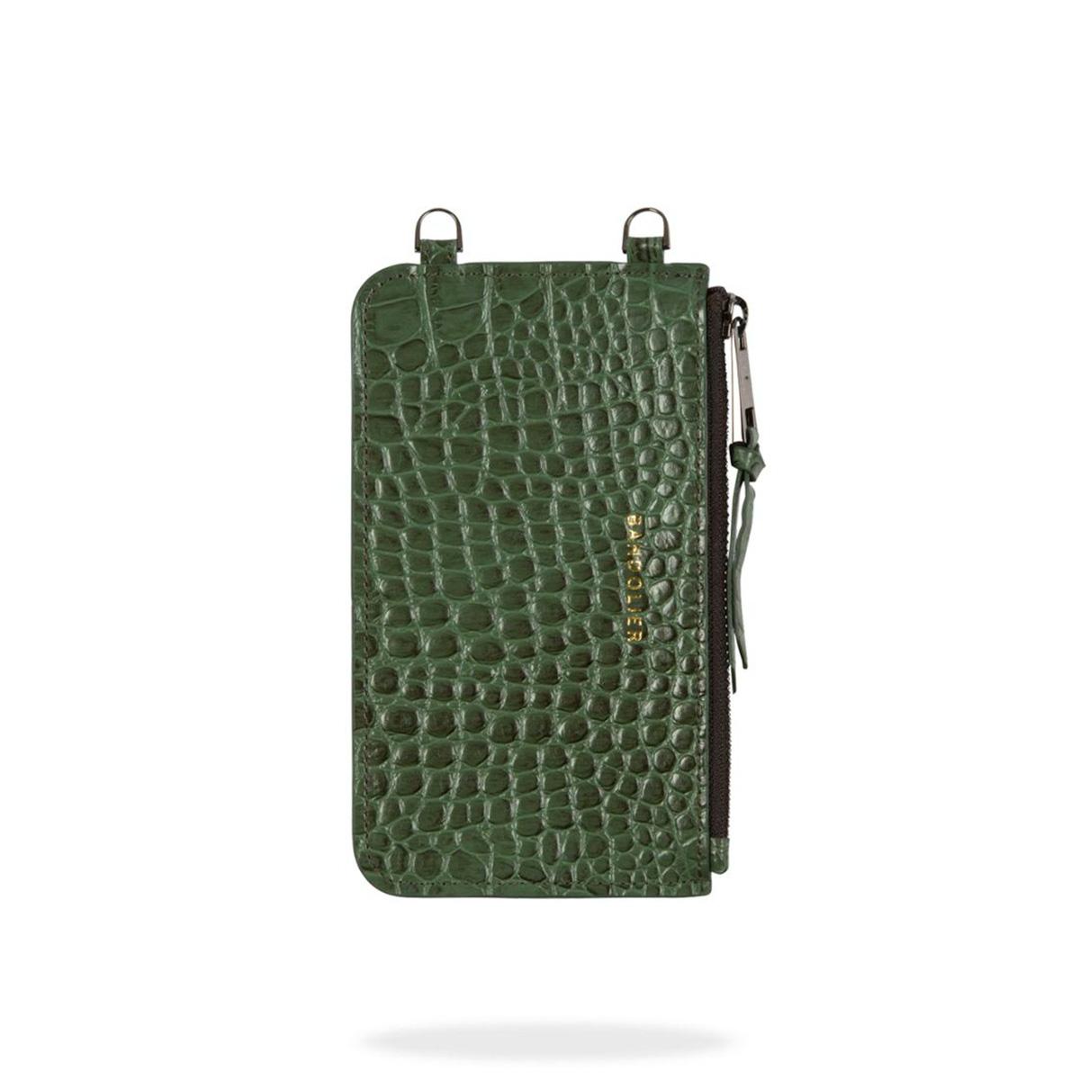 BANDOLIER EMMA CROC GREEN POUCH バンドリヤー ポーチ スマホ 携帯 レディース グリーン 20emm