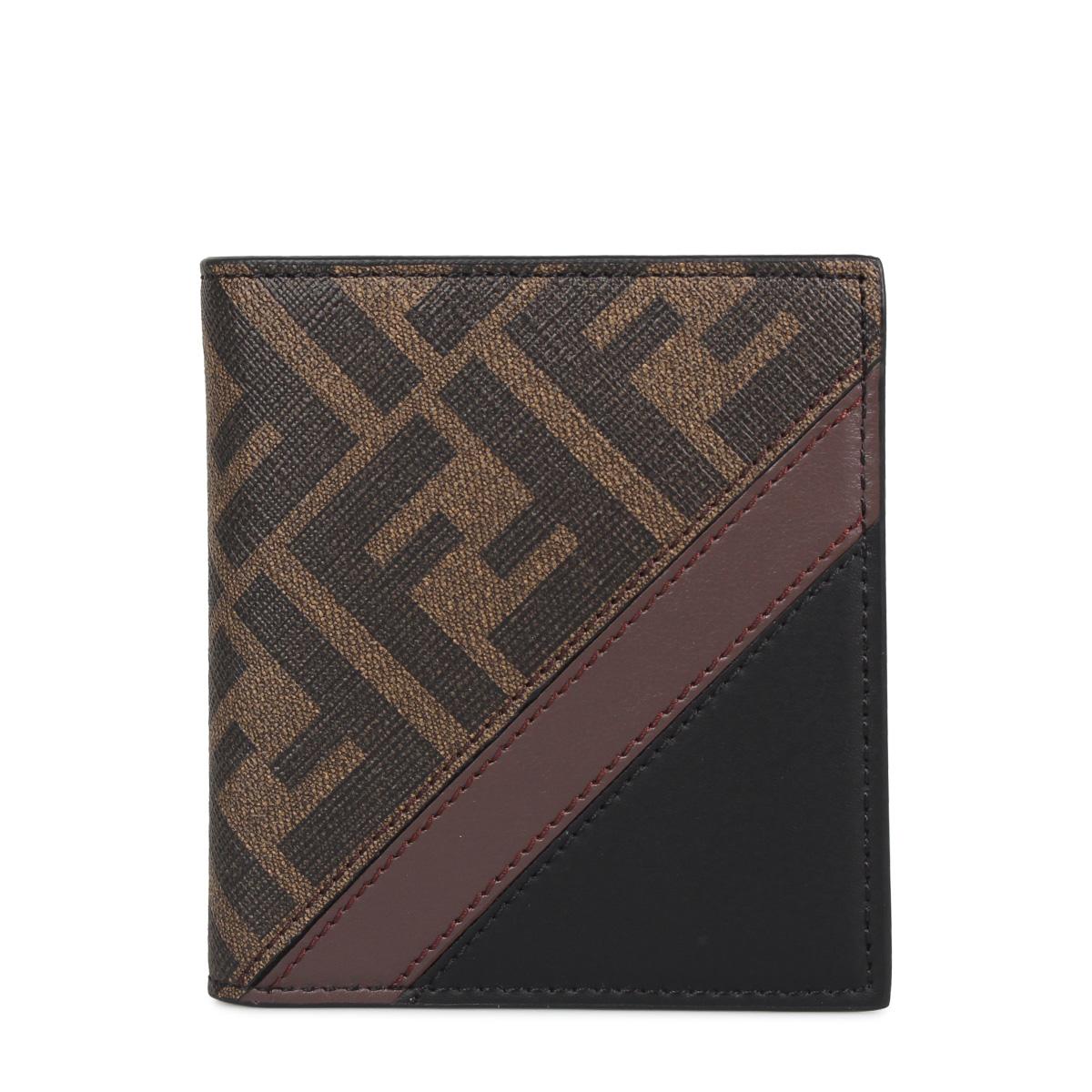 FENDI SLIM WALLET 8CC フェンディ 財布 二つ折り メンズ ブラウン 7M0274