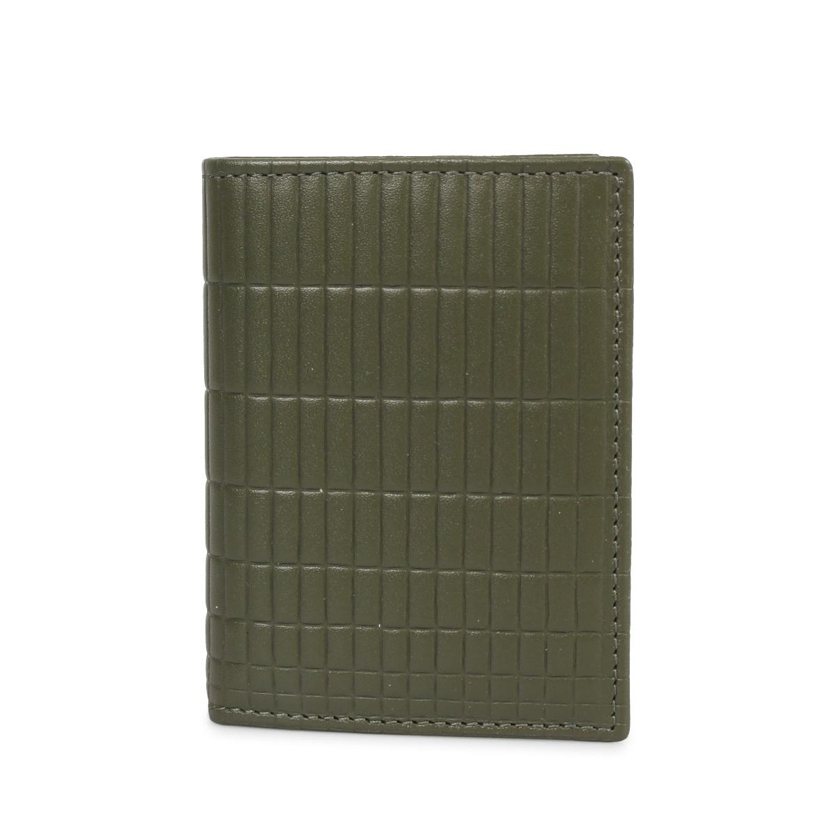 COMME des GARCONS BRICK LINE WALLET コムデギャルソン 財布 二つ折り メンズ レディース カーキ SA0641BK