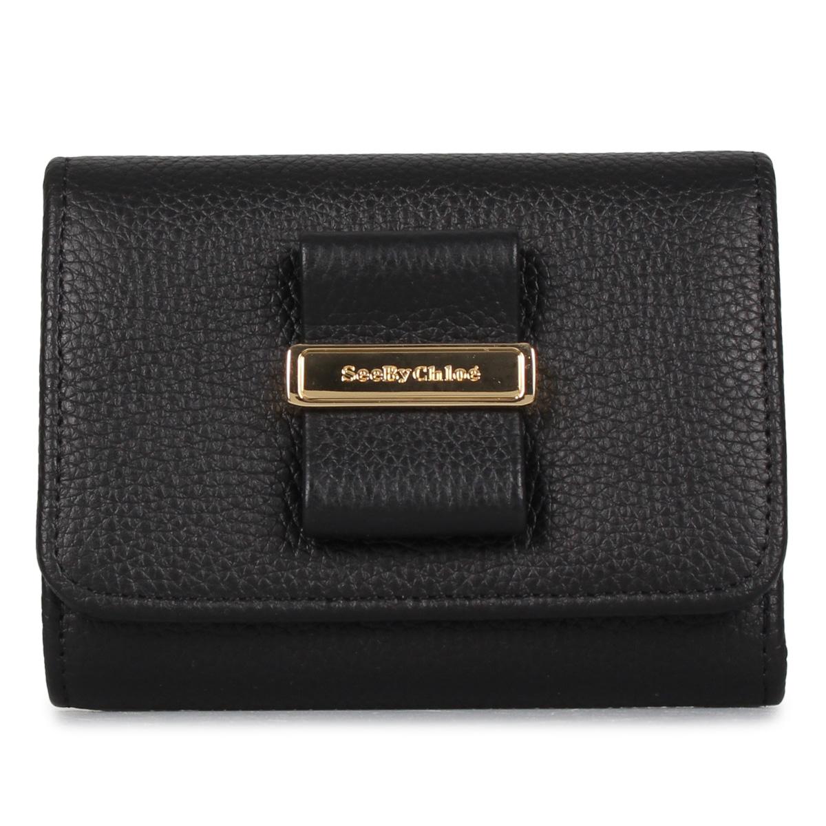 SEE BY CHLOE ROSITA シーバイクロエ 財布 三つ折り レディース ブラック 黒 CHS16AP717