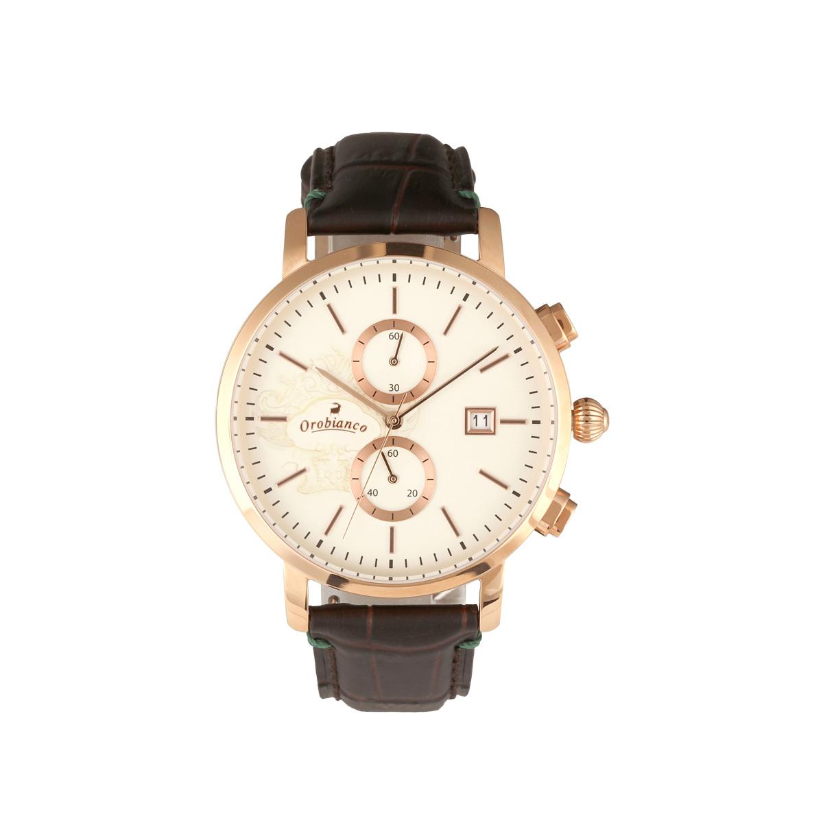 Orobianco CERTO オロビアンコ 時計 腕時計 メンズ クオーツ アナログ ダーク ブラウン OR0070-9 [2/26 新入荷]