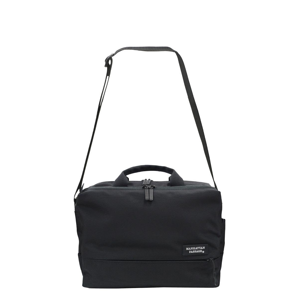 MANHATTAN PASSAGE SHOULDER BAG EST 2 マンハッタンパッセージ バッグ ショルダーバッグ ビジネスバッグ ブリーフケース メンズ 6.5L ブラック ネイビー 黒 5485