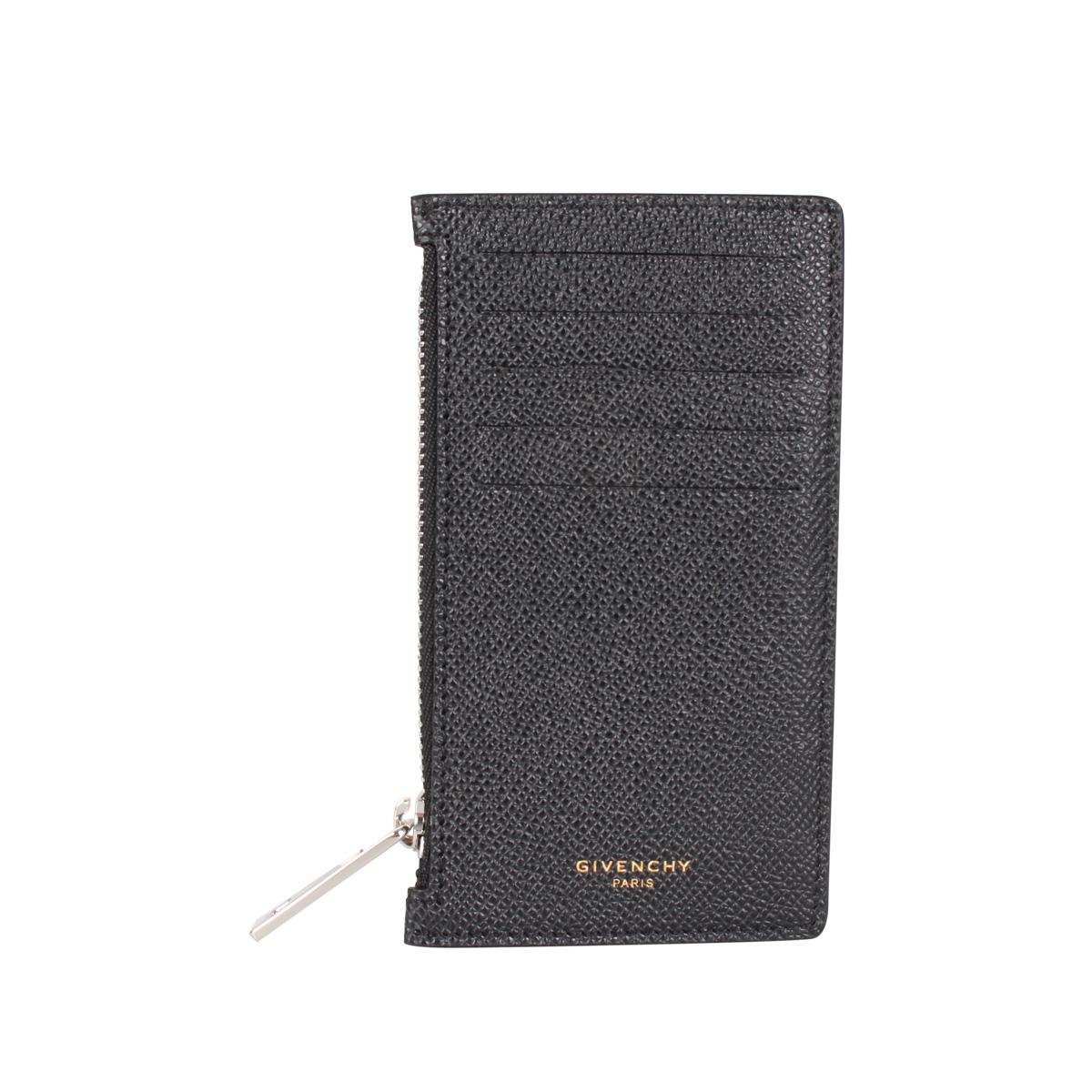GIVENCHY CARD HOLDER ジバンシィ カードケース 小銭入れ 定期入れ ID メンズ ブラック 黒 BK6001 [3/9 新入荷]