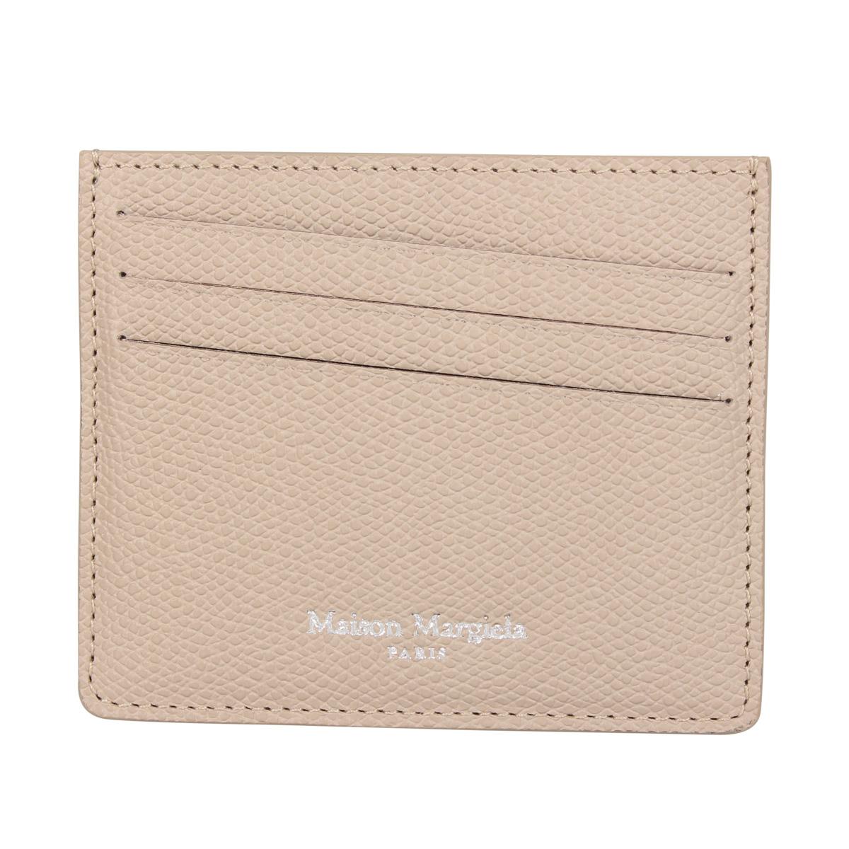 MAISON MARGIELA CARD CASE メゾンマルジェラ カードケース 名刺入れ 定期入れ メンズ レディース ベージュ S35UI0432-T2352 [3/4 新入荷]