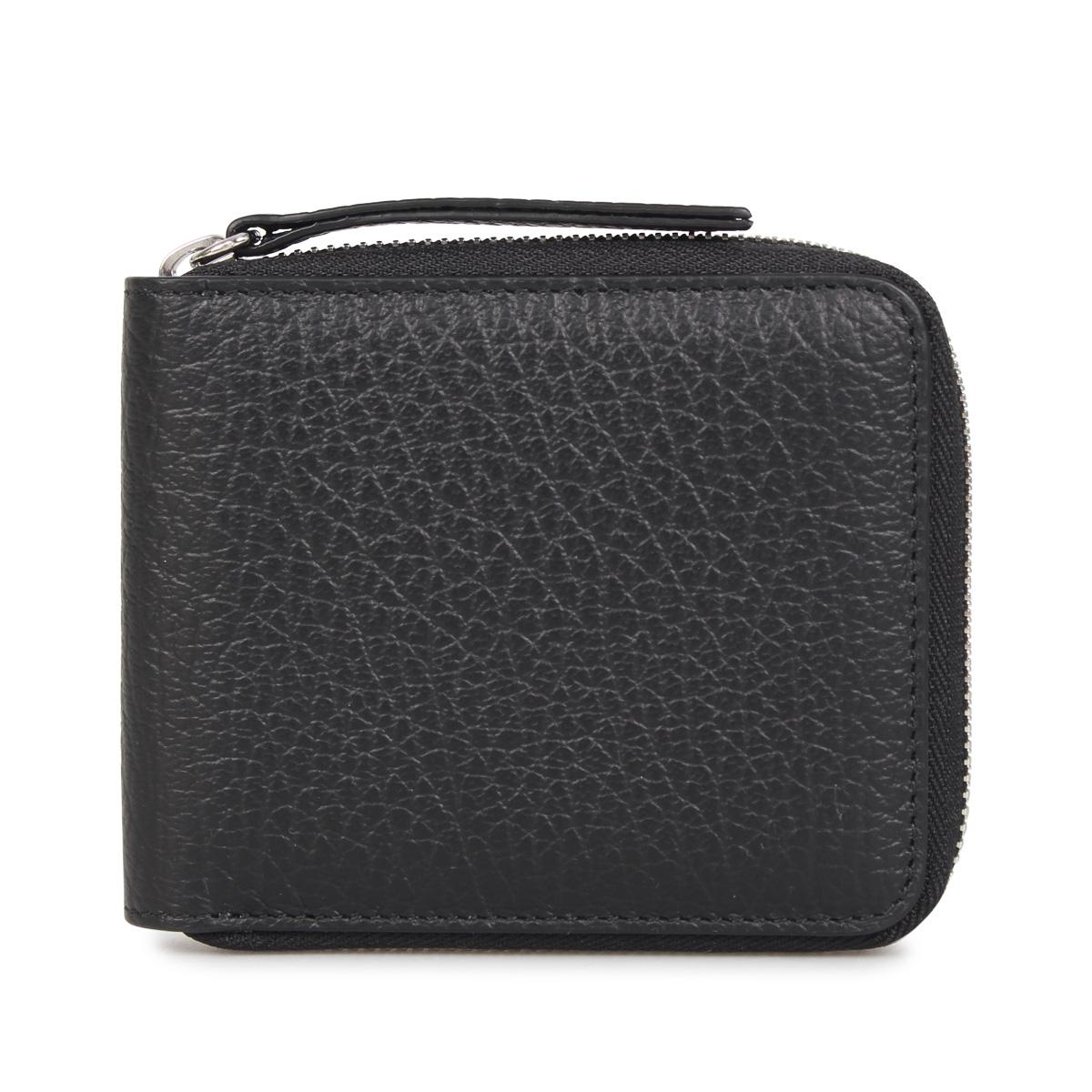 MAISON MARGIELA WALLET メゾンマルジェラ 財布 二つ折り メンズ レディース ブラック 黒 S56UI0111 [3/12 新入荷]
