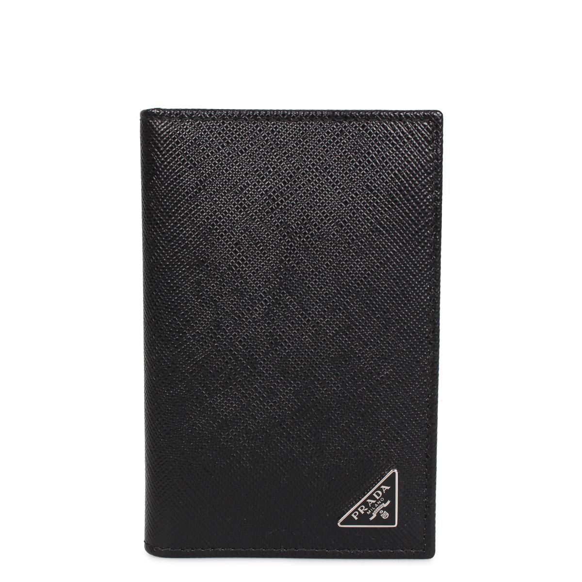 PRADA SAFFIANO TRIANGOLO プラダ パスケース カードケース ID 定期入れ サフィアーノ メンズ ブラック 黒 2MC101-QHH [3/9 新入荷]