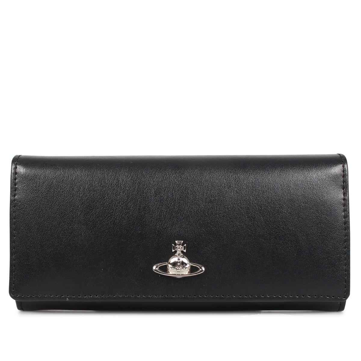Vivienne Westwood PIMLICO WOMAN CREDIT CARD ヴィヴィアンウエストウッド 財布 長財布 レディース  ブラック 黒 51120005 [3/12 新入荷]