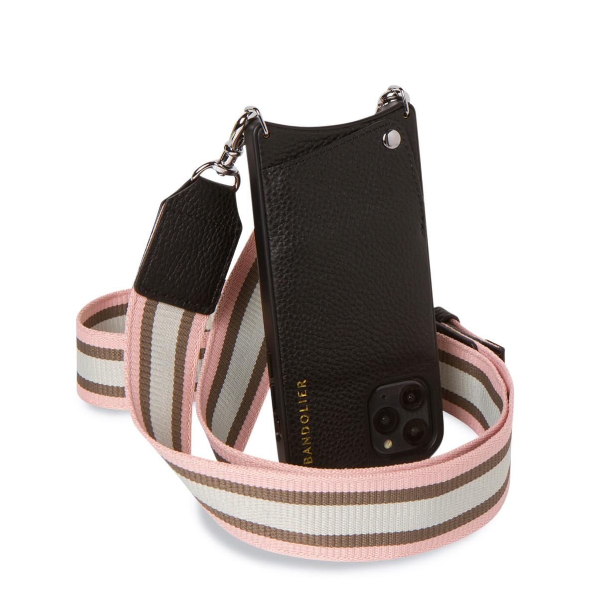 BANDOLIER KIMBERLY PINK WHITE バンドリヤー iPhone11 Pro MAX ケース スマホ 携帯 アイフォン ショルダー キンバリー メンズ レディース レザー ブラック 黒 10KIM [7/8 再入荷]