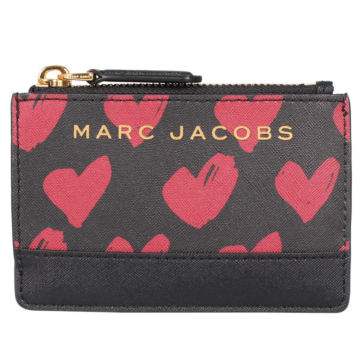 MARC JACOBS CARD CASE マークジェイコブス パスケース カードケース ID 定期入れ 小銭入れ キーケース レディース ブラック 黒 M0015719-962 [4/27 新入荷]