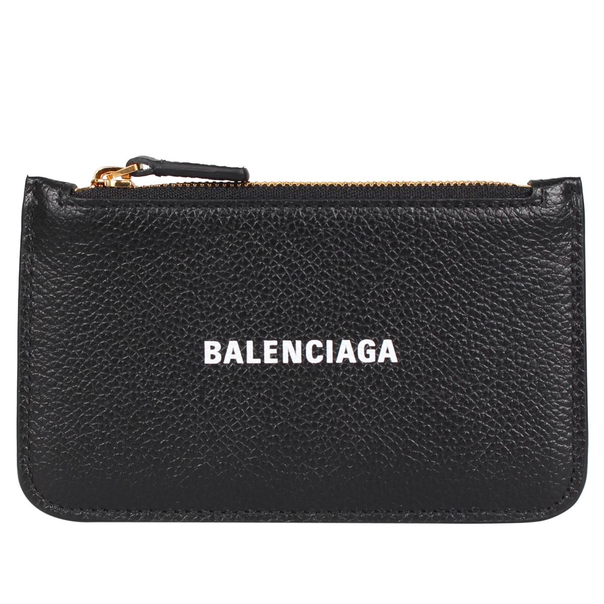 BALENCIAGA COIN AND CARD HOLDER バレンシアガ 財布 小銭入れ コインケース カードケース メンズ レディース  ブラック 黒 594214 [4/14 新入荷]