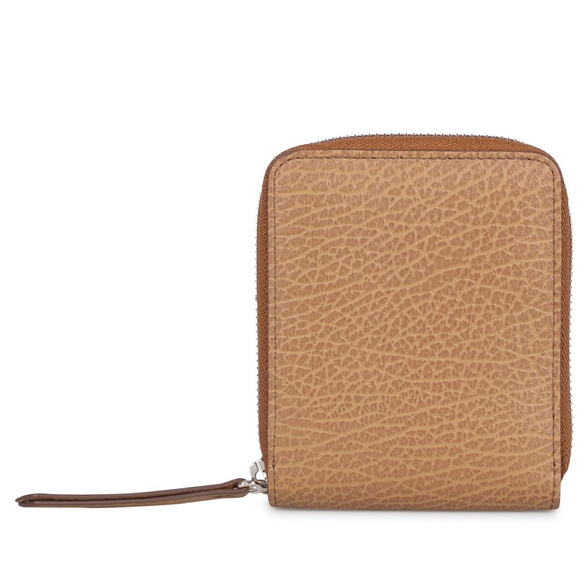 MAISON MARGIELA WALLET メゾンマルジェラ 財布 二つ折り ミニ財布 ラウンドファスナー メンズ レディース ベージュ S56UI0111