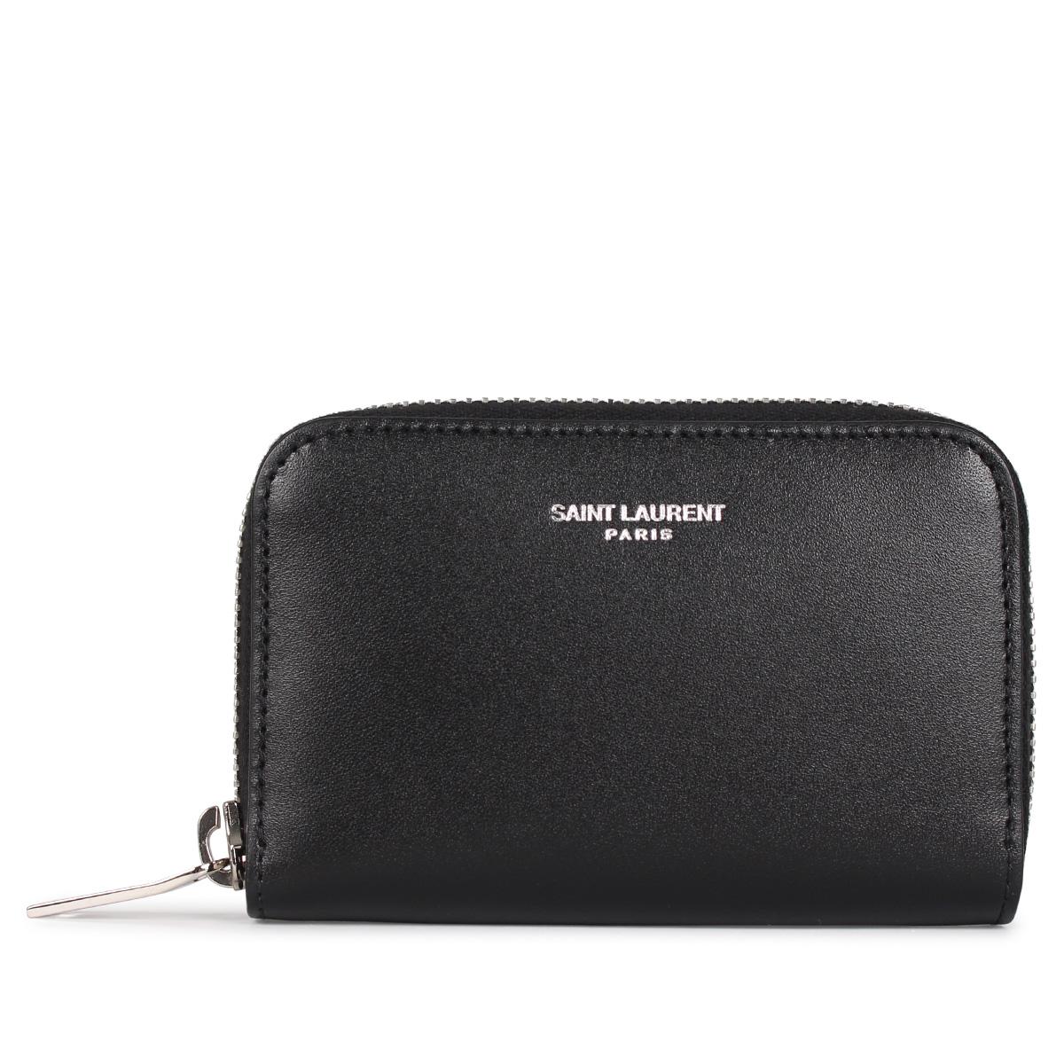 SAINT LAURENT PARIS COIN CASE サンローラン パリ 財布 コインケース 小銭入れ メンズ ブラック 黒 5065220U90N