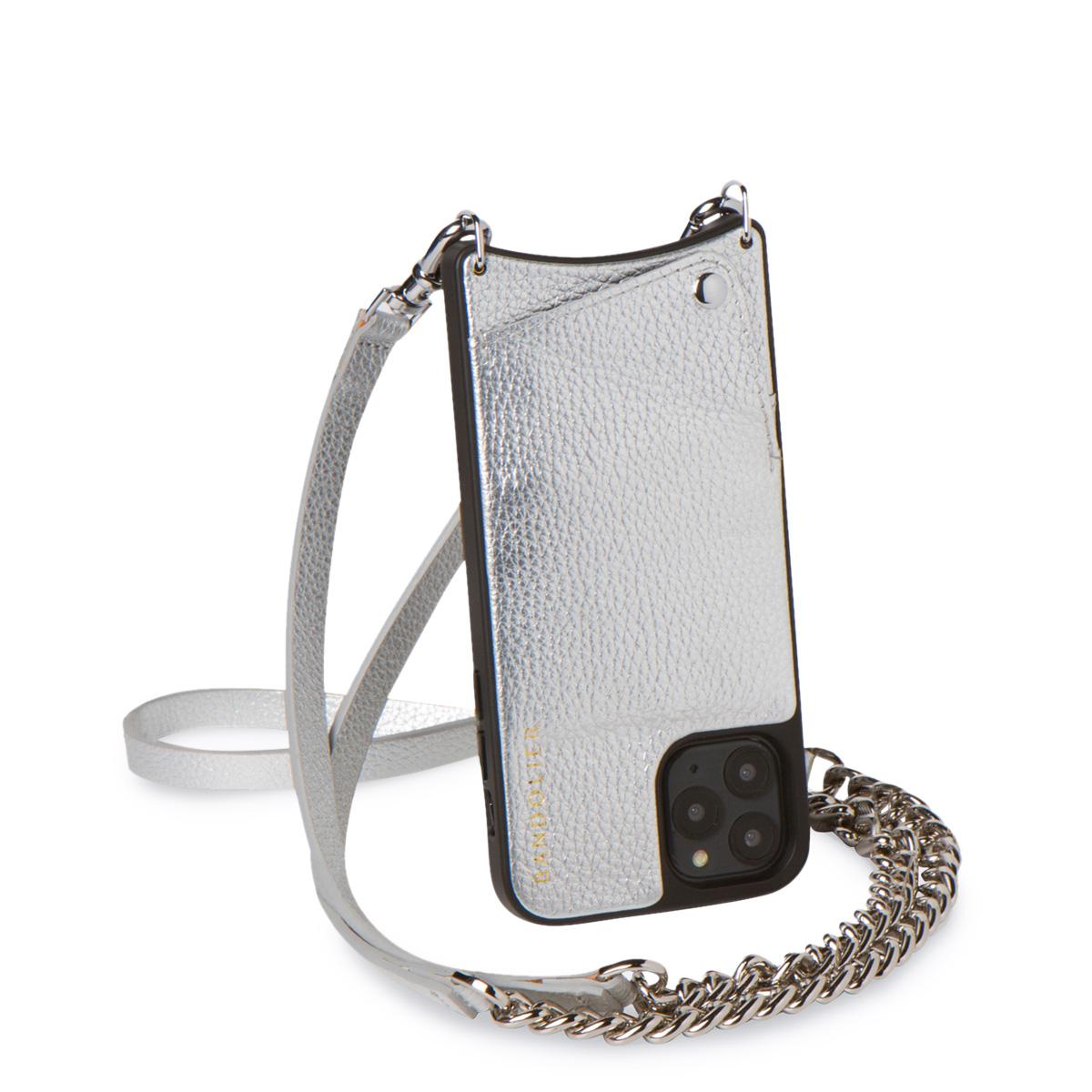 BANDOLIER LEXI RICH SILVER バンドリヤー iPhone11 Pro MAX ケース スマホ 携帯 ショルダー アイフォン レクシー メンズ レディース シルバー 10LEX [5/27 新入荷]