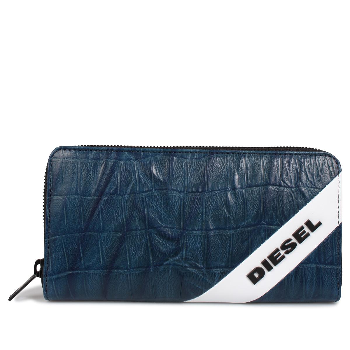 DIESEL 24ZIP ディーゼル 財布 長財布 メンズ ラウンドファスナー ネイビー X06632-PR958