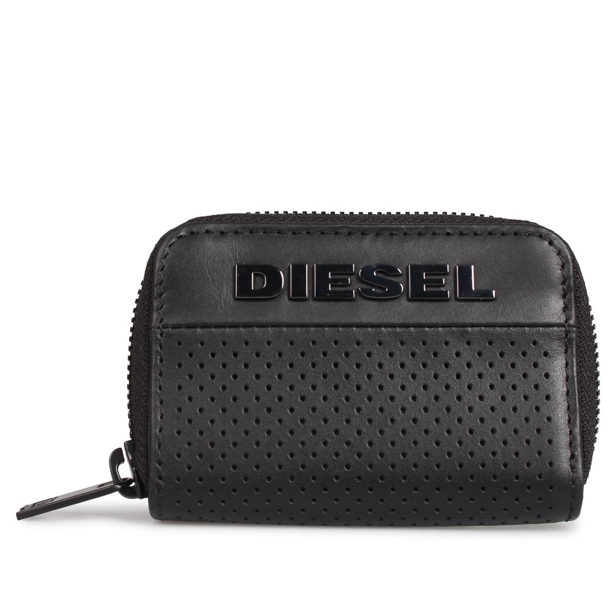 DIESEL COIN CASE ディーゼル 財布 小銭入れ コインケース メンズ ラウンドファスナー ブラック 黒 X06759-PR879
