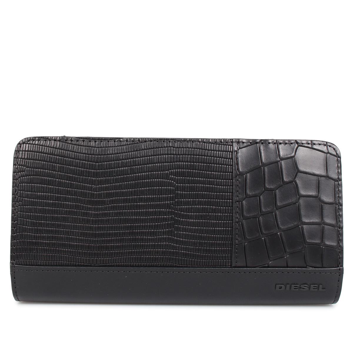 DIESEL V-24 ZIP ディーゼル 財布 長財布 メンズ L字ファスナー ブラック 黒 X06766-P2392